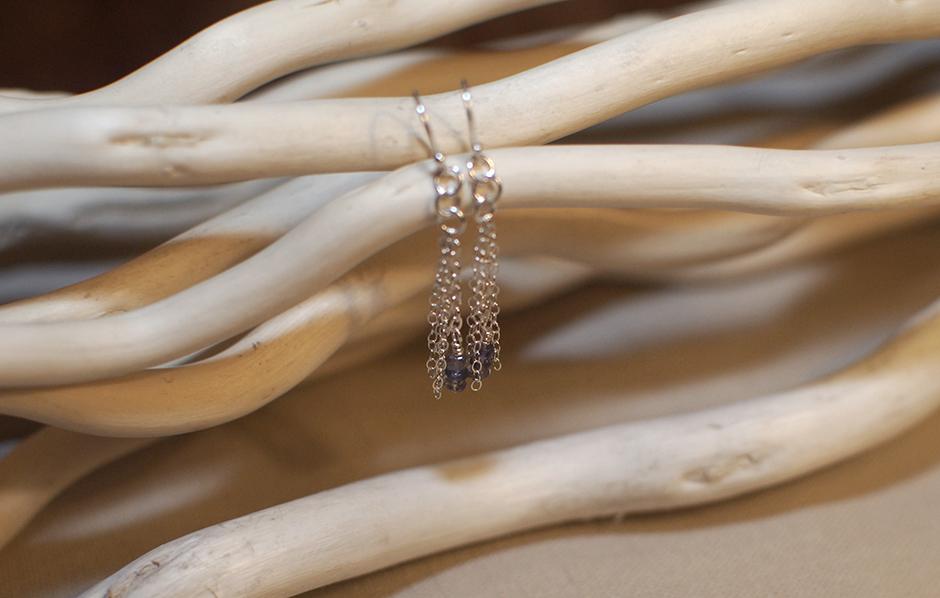 Iolite + Sterling Silver Earrings