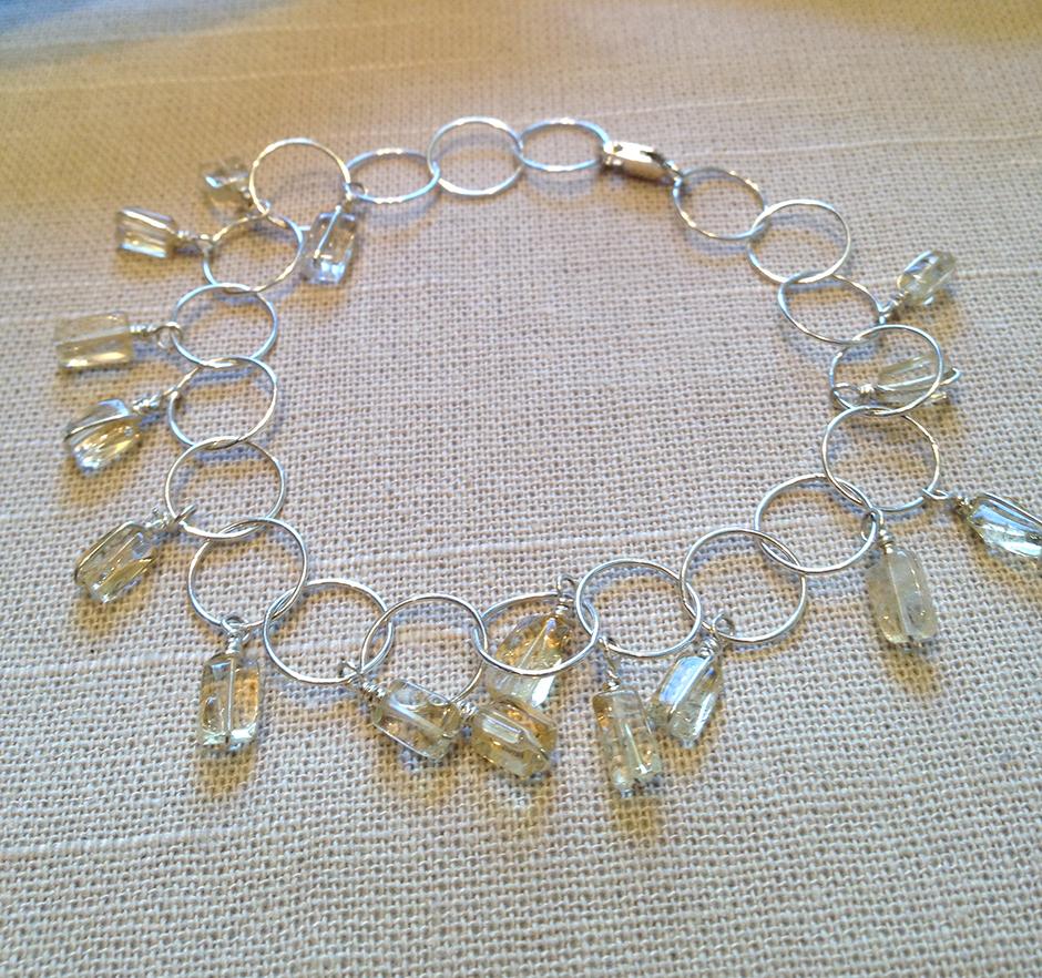 Citrine + Sterling Silver Bracelet