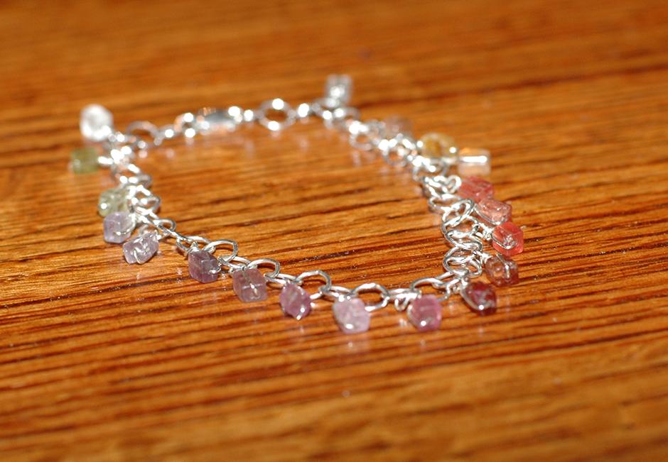 Spinel + Sterling Silver Bracelet