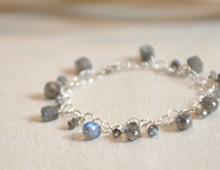 Labradorite + Sterling Silver Bracelet